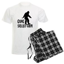 Gone Squatchin print pajamas
