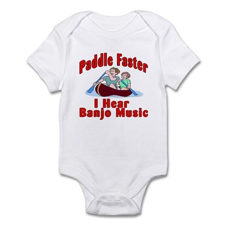 Paddle Faster I Hear Banjo Mu Infant Bodysuit