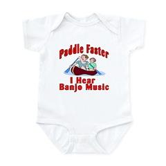 Paddle Faster I Hear Banjo Mu Infant Bodysuit
