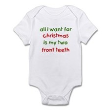 Two Front Teeth for Xmas Onesie