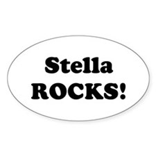 Stella Rocks! Oval Decal