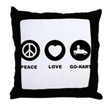 Go-Kart Throw Pillow