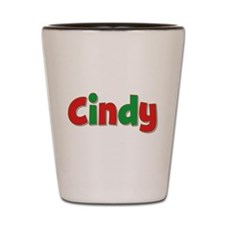 Cindy Christmas Shot Glass