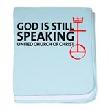 God Is Still Speaking baby blanket