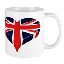 Union Jack Heart / I love Great Britain Small Mug