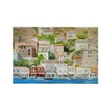 Hillside Village in Greece Rectangle Magnet