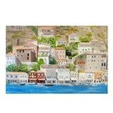Hillside Village in Greece Postcards (Package of 8