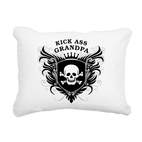 kick_ass_grandpa.png Rectangular Canvas Pillow