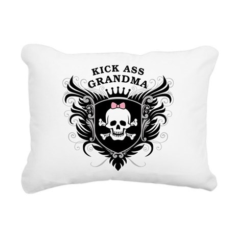 kick_ass_grandma.png Rectangular Canvas Pillow