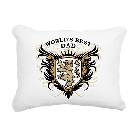 worlds_best_dad.png Rectangular Canvas Pillow