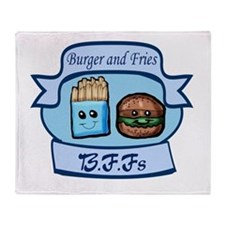 Burger and Fries BFFs Throw Blanket