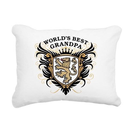worlds_best_grandpa.png Rectangular Canvas Pillow