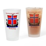 Unique Norwegian Drinking Glass