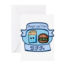 Burger and Fries BFFs Greeting Card