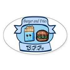 Burger and Fries BFFs Decal