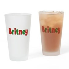 Britney Christmas Drinking Glass