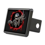 Chrome Skull Rectangular Hitch Cover