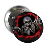 "Chrome Skull 2.25"" Button"