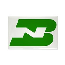 Burlington Northern Rectangle Magnet (100 pack)