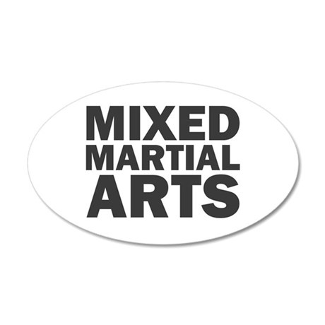 Mixed Martial Arts 20x12 Oval Wall Decal