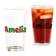 Amelia Christmas Drinking Glass