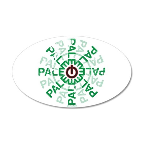 Paleo Power Wheel 35x21 Oval Wall Decal