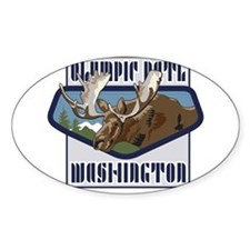 Olympic Mountaintop Moose Decal