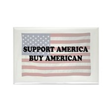 Support America - Buy American Rectangle Magnet (1