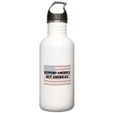 Support America - Buy American Water Bottle