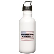 Stop Outsourcing - Buy American Water Bottle