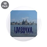 "Scenic Liverpool (Blue) 3.5"" Button (10 pack)"