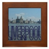 Scenic Liverpool (Blue) Framed Tile