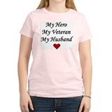 My Hero My Veteran My Husband Women's Pink T-Shirt