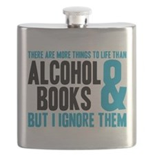 Unique Book lover Flask