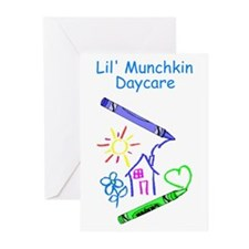 Lil' Munchkin Daycare Greeting Cards (Pk of 10