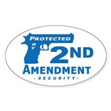 2nd Second Amendment Security Oval Decal Decal