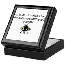 Buckle up - aliens are coming! Keepsake Box
