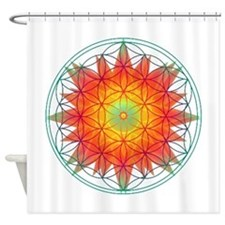 Internal Sun Shower Curtain