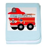 Fire Engine Seven baby blanket