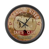 Rahway River Skate Club Large Wall Clock