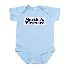 Martha's Vineyard with Heart Infant Bodysuit