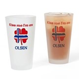 Cute Norwegian Drinking Glass