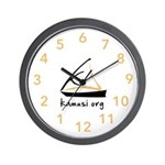 Kamusi Logo Swahili Time Wall Clock