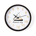Kamusi Logo Swahili Time Wall Clock
