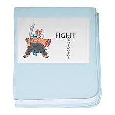 Fight Hashimoto's Thyroiditus baby blanket