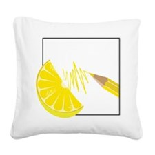 Lemon Square Canvas Pillow