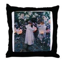 Sargent Carnation Lily Lily Rose Throw Pillow