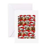 Cute Lhasa apso art Greeting Card