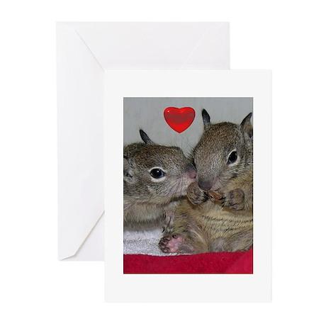 Valentine Squirrels Greeting Cards