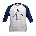 Adelie Penguin Graphic Kids Baseball Jersey